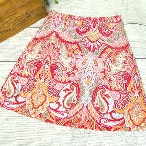 Athleta Paisley Print Sports Skirt Size M